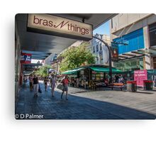 Rundle Mall - Looking down the Mall  Canvas Print