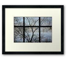 Through The Window Framed Print
