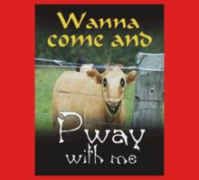WANNA COME AND PWAY WITH ME One Piece - Short Sleeve