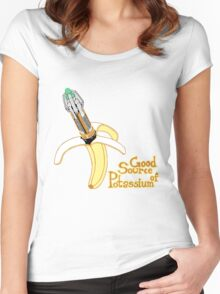 Good Source of Potassium Women's Fitted Scoop T-Shirt