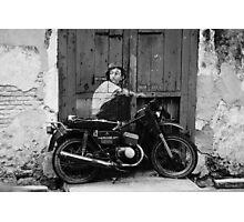 Graffiti Rider Photographic Print