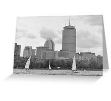 Sailboats on the Charles River Greeting Card