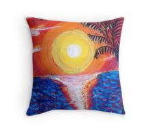 Sun Rise ( by the Sea ) Throw Pillow