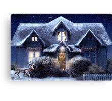 Quiet Winter Night Canvas Print