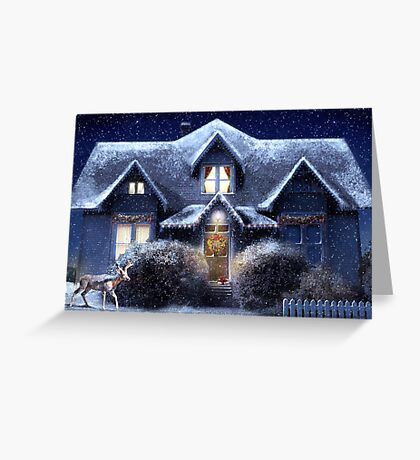 Quiet Winter Night Greeting Card
