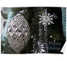 Elegant Happy Holidays Poster