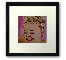 Hyper Colour Bubble Bath Framed Print