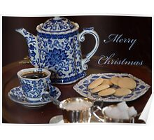 Merry Christmas Tea Party Poster