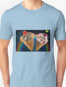 Cat and dog icecream cone friends T-Shirt