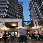 Circular Quay ~ at Dusk 3 by Emma  Wertheim~Blue Butterfly Art