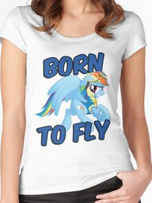 Born to Fly Shirt (Version 3) Women's Fitted Scoop T-Shirt