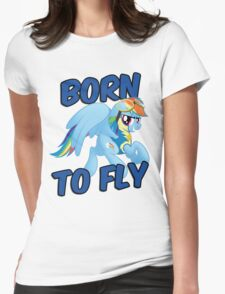 Born to Fly Shirt (Version 3) Womens Fitted T-Shirt