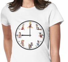 Sexy Girls Clock2 Womens Fitted T-Shirt