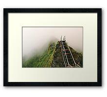 Haiku Stairs Framed Print