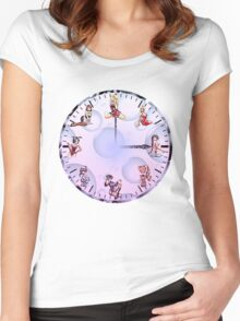 Sexy Girls Clock4 Women's Fitted Scoop T-Shirt