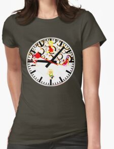 Sexy Girls Clock6 Womens Fitted T-Shirt