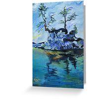 Little Blue Island (Sidney, B.C.) Greeting Card