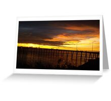 Golden Sunset - Derby Jetty WA Greeting Card