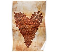 Coffee Heart Poster