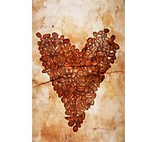 Coffee Heart Photographic Print