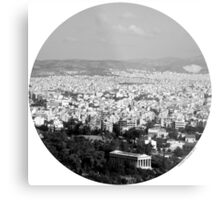Athens - Now and Then Metal Print