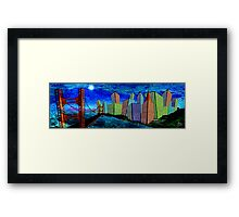 Horizontal Moon Framed Print