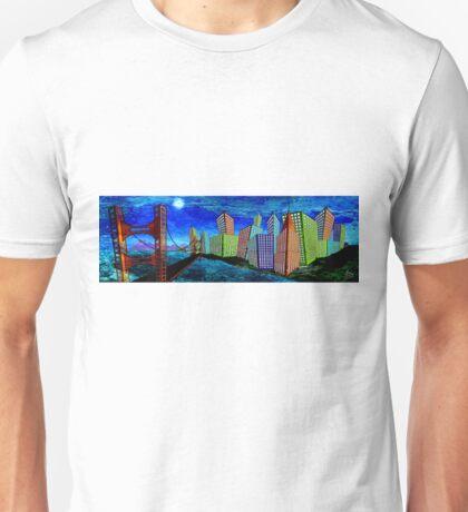 Horizontal Moon Unisex T-Shirt