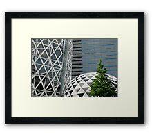 Office Buildings in Tokyo Framed Print