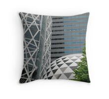Office Buildings in Tokyo Throw Pillow