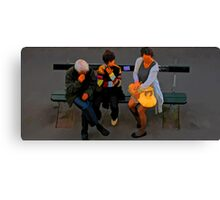 People of Paris. Bustop Canvas Print