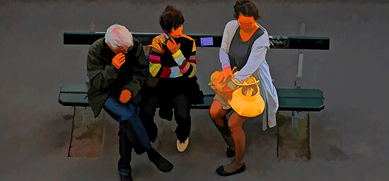 People of Paris. Bustop by Murray Swift
