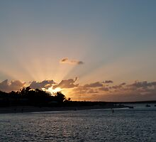 Sun burst over Shark Bay by BeccE