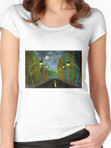 Street Lights Women's Fitted Scoop T-Shirt