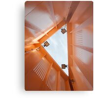 Inside an Orange Triangle Metal Print