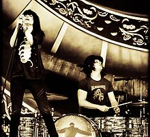 Dead Weather - Jack White & Alison Mosshart by Mick Yates