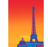 Psychedelic Eiffel Tower Photographic Print