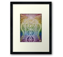 Guardians of the Rainbow - Reiki charged  Framed Print