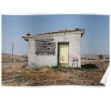 Derelict Farm Building Poster