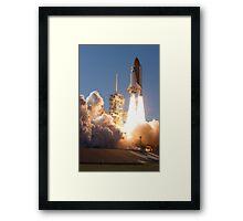 Space Shuttle Launch Framed Print