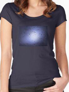 Light Through Shower Door – Mini Blue Women's Fitted Scoop T-Shirt