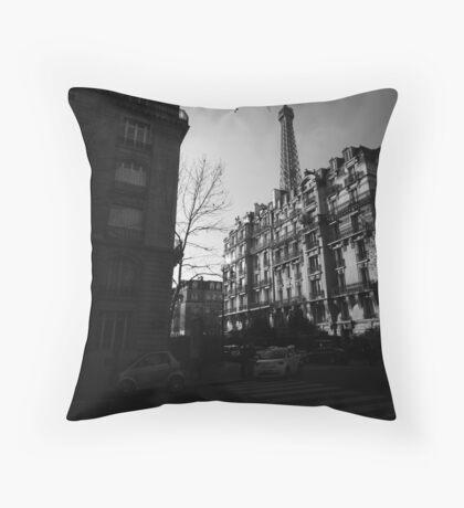 Paris Highlights and Shadows Throw Pillow