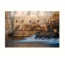 Mill, Slovenia Art Print