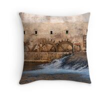 Mill, Slovenia Throw Pillow