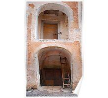 Entrance to Building in Rakitnik Poster