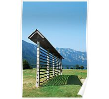 Slovenian Hay Storage Structure Poster