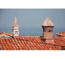 Chimneys in Piran, Slovenia Photographic Print