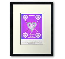 Love Infinite  Framed Print