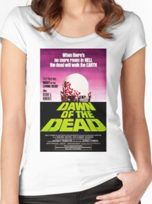 Dawn Of The Dead Movie Poster Women's Fitted Scoop T-Shirt