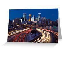 Minneapolis Night Lights 2 Greeting Card