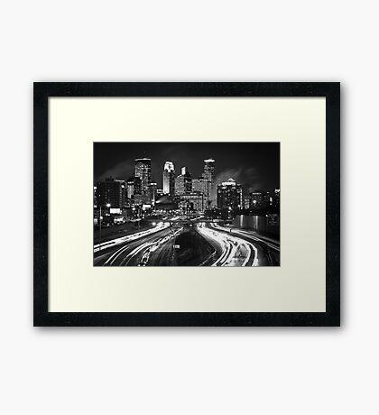 Black and Light Framed Print
